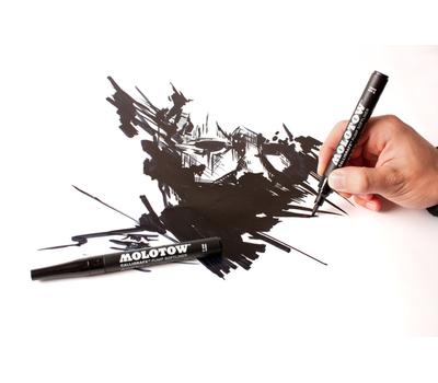 Маркер-Кисть MOLOTOW GRAFX 2 мм Черный, фото 2